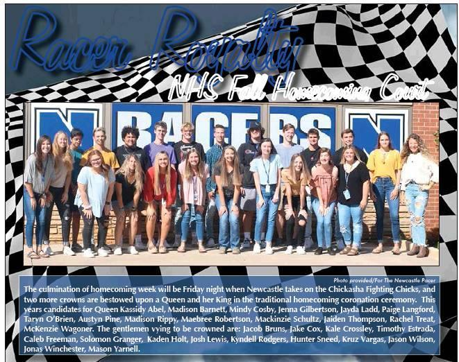 Photo provided/For The Newcastle Pacer The culmination of homecoming week will be Friday night when Newcastle takes on the Chickasha Fighting Chicks, and two more crowns are bestowed upon a Queen and her King in the traditional homecoming coronation cerem