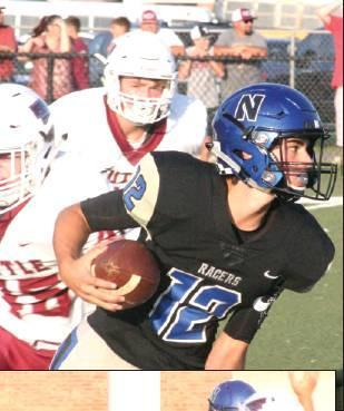 MIDDLE: Quarterback Chase Fox looks for running room against Tuttle during Newcastle's 41-7 loss to the Tigers.