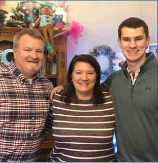 Photo provided Gary Knowles, wife Kathy and son Garrett, 2018 Newcastle HS graduate.