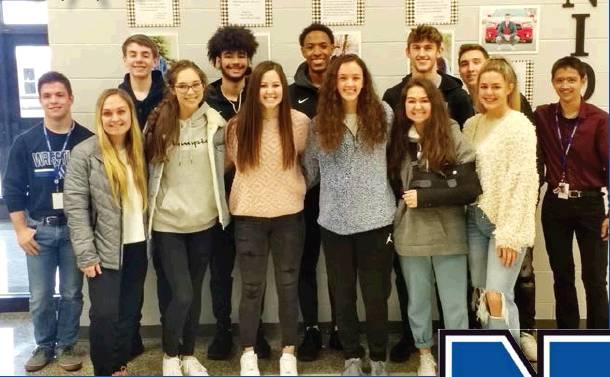 Todd Newville/The Newcastle Pacer (BACK ROW FROM LEFT) Hunter Sneed, Ethan Conner, Jalen Greene, Kalub Hunt, Cooper Baldwin, Caleb Freeman, Timothy Estrada; (front row, left to right) Madison Barnett, Allison Goad, Jenna Gilbertson, Grace Rehl, MacKenzie