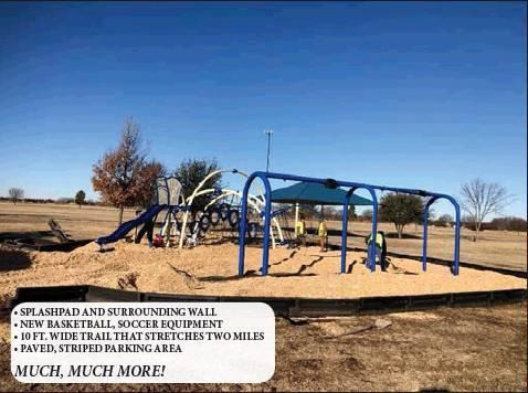Photos provided • SPLASHPAD AND SURROUNDING WALL • NEW BASKETBALL, SOCCER EQUIPMENT • 10 FT. WIDE TRAIL THAT STRETCHES TWO MILES • PAVED, STRIPED PARKING AREA MUCH, MUCH MORE!