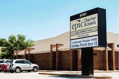 Whitney Bryen / Oklahoma Watch An Epic Charter School administrative office.