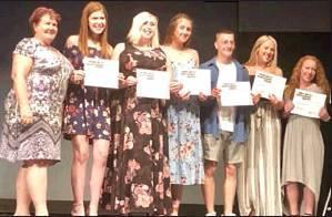 Photo provided Receipients of this years Mona Brite Scholarship were Chasity Freeman, Josie McFarland, Maddy North, Caden Holland and Ally Burchett.