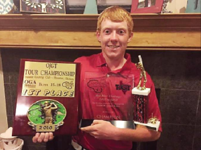 Dalton Daniel won three big golf tournament in the past several weeks: the OJGT Tour Championship, Bill Nicholas Memorial Classic (this is a three-peat win for the Newcastle senior), and the biggest win was the OK vs TX Red River Challenge Championship. B