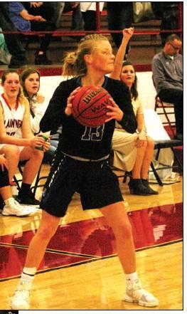 Todd Newville/The Newcastle Pacer Morgan Bergt was a key starter for the Lady Racers' basketball team which went 25-4 this season.