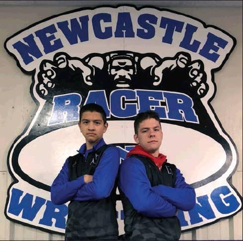 "Photos provided Timothy Estrada and Hunter Sneed were recognized at Senior Night held at NHS Tuesday, Feb. 4. ""Both our seniors are great young men that will be missed but we are excited about their future plans. Our coaching staff is looking forward to"