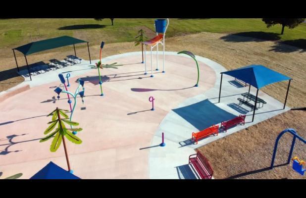 Veterans Park Splashpad ribbon cutting coming next Friday