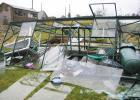 High wind speeds cause damage