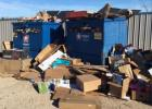 Recycling site littered with materials